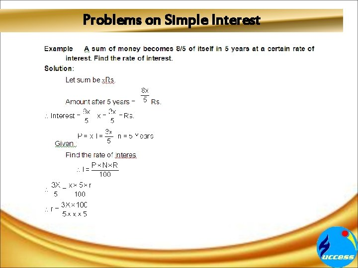 Problems on Simple Interest