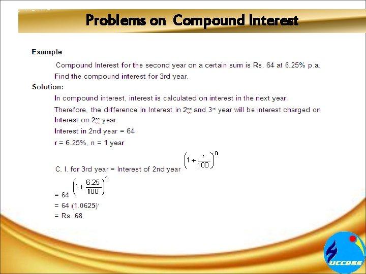 Problems on Compound Interest