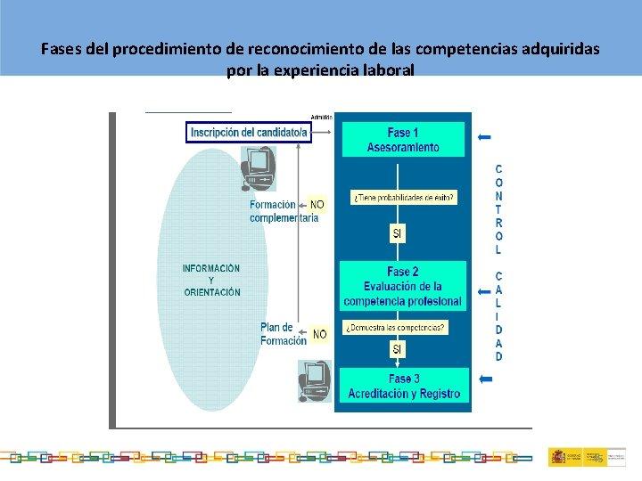 Fases del procedimiento de reconocimiento de las competencias adquiridas por la experiencia laboral 45