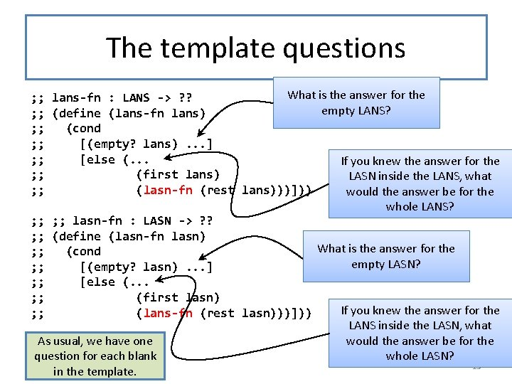The template questions What is the answer for the ; ; lans-fn : LANS