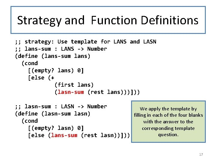 Strategy and Function Definitions ; ; strategy: Use template for LANS and LASN ;