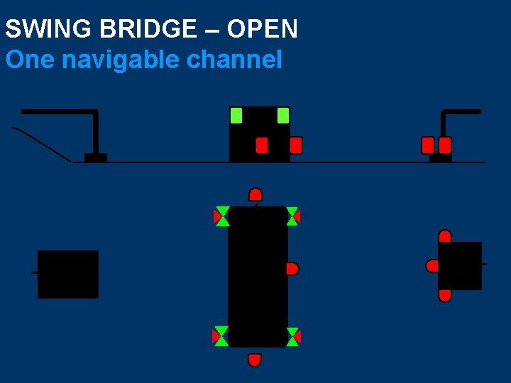 SWING BRIDGE – OPEN One navigable channel