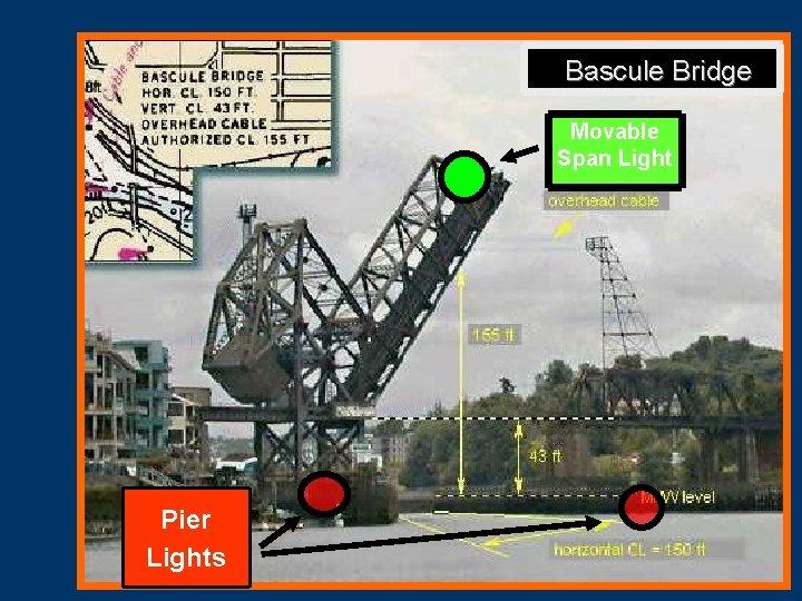 Bascule Bridge Movable Span Light Pier Lights