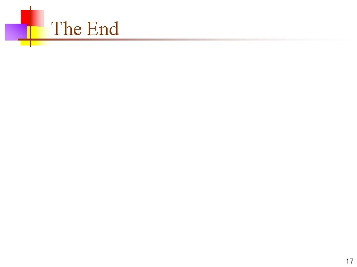 The End 17
