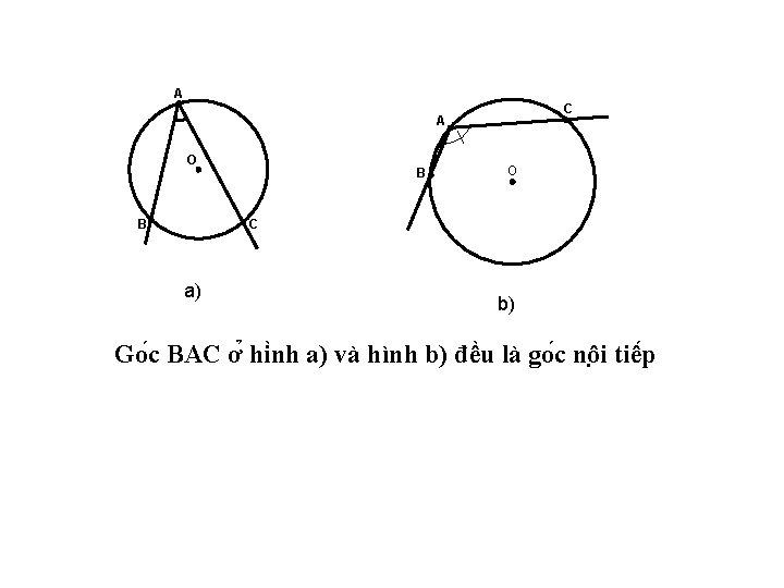 A C A O B O C B a) b) Go c BAC ơ