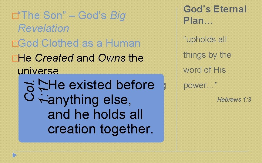 """�""""The Son"""" – God's Big Revelation �God Clothed as a Human �He Created and"""