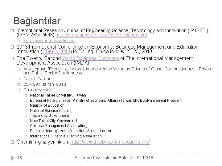 Bağlantılar � International Research Journal of Engineering Science, Technology and Innovation (IRJESTI) (ISSN-2315 -5663)