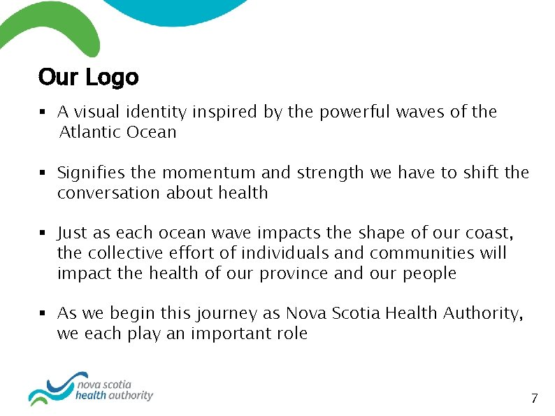Our Logo § A visual identity inspired by the powerful waves of the Atlantic