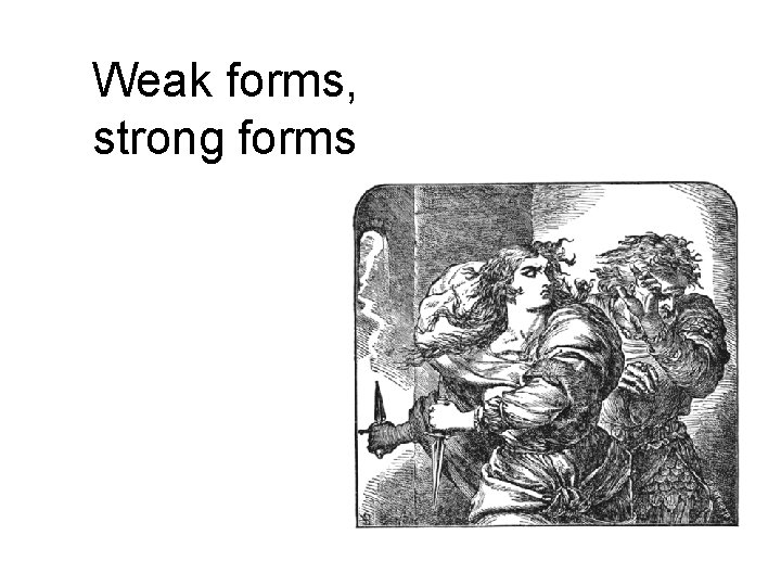 Weak forms, strong forms