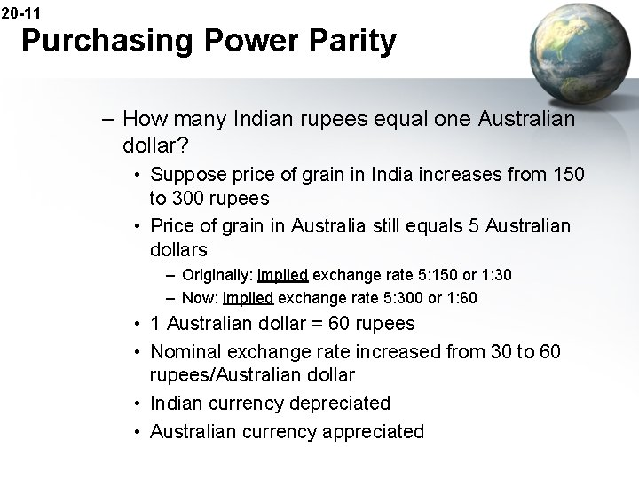 20 -11 Purchasing Power Parity – How many Indian rupees equal one Australian dollar?