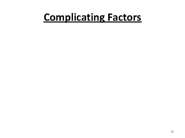 Complicating Factors 36