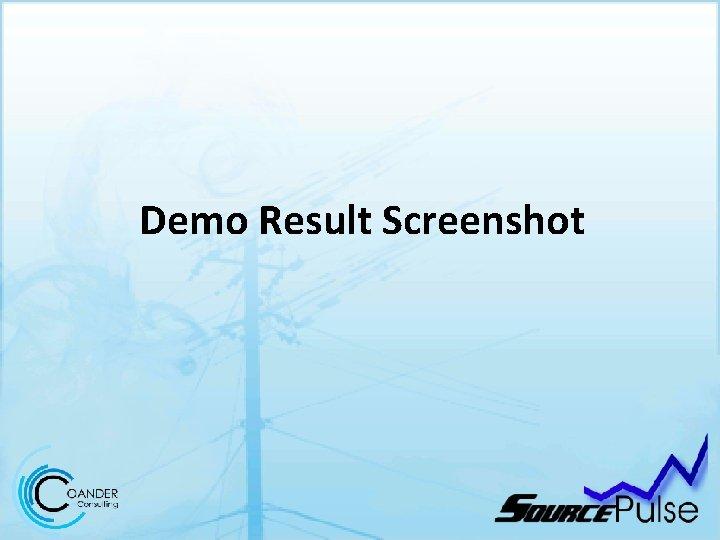 Demo Result Screenshot