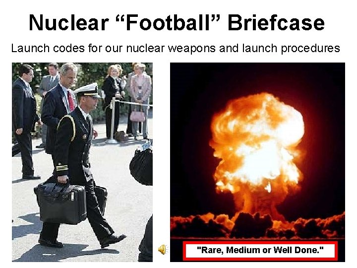 """Nuclear """"Football"""" Briefcase Launch codes for our nuclear weapons and launch procedures """"Rare, Medium"""