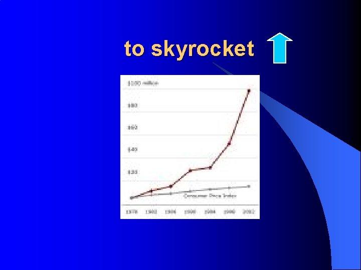 to skyrocket