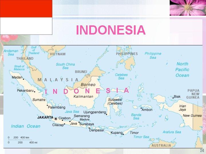 INDONESIA I N D O N E S I A 24