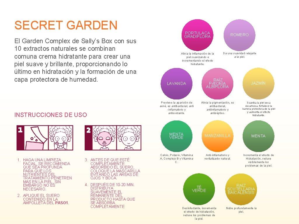 SECRET GARDEN El Garden Complex de Sally's Box con sus 10 extractos naturales se