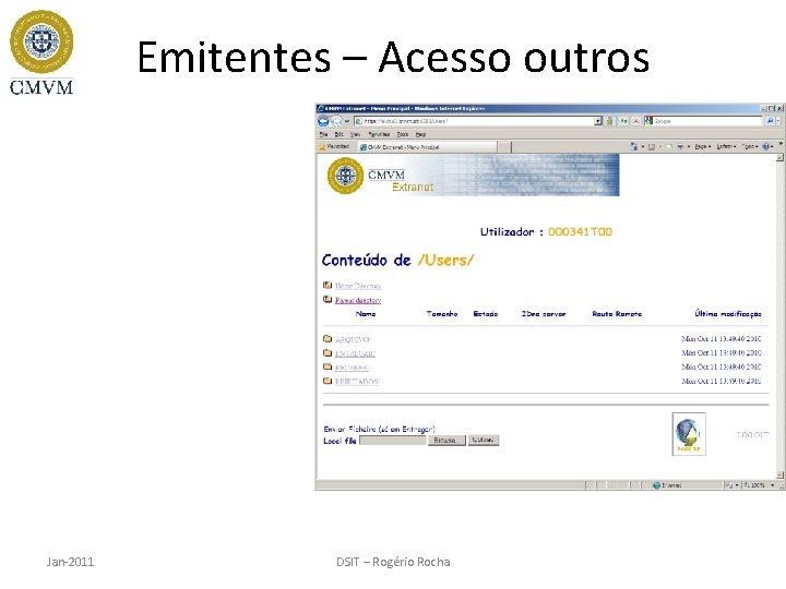 Emitentes – Acesso outros Jan-2011 DSIT – Rogério Rocha