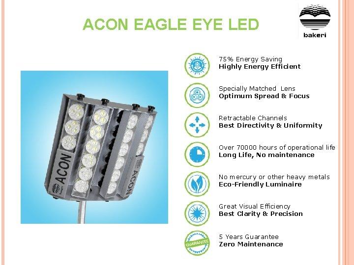 ACON EAGLE EYE LED 75% Energy Saving Highly Energy Efficient Specially Matched Lens Optimum