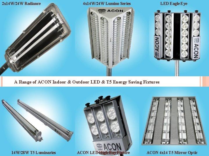 2 x 14 W/24 W Radiance 4 x 14 W/24 W Lumino Series LED