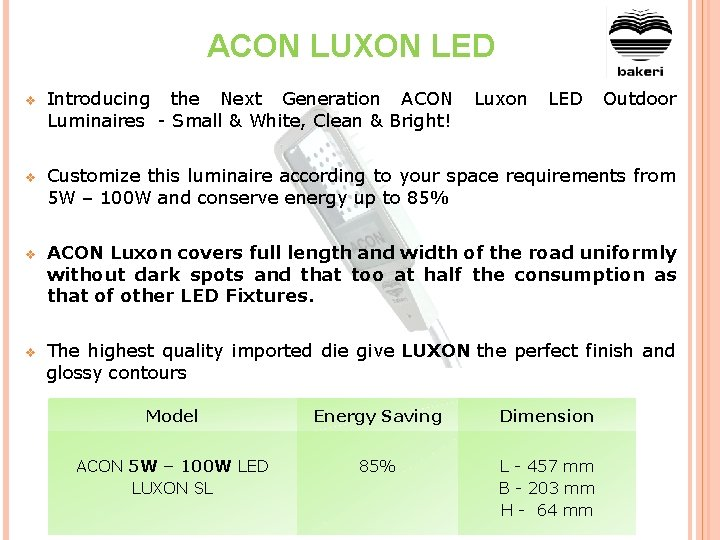 ACON LUXON LED v Introducing the Next Generation ACON Luxon LED Outdoor Luminaires -