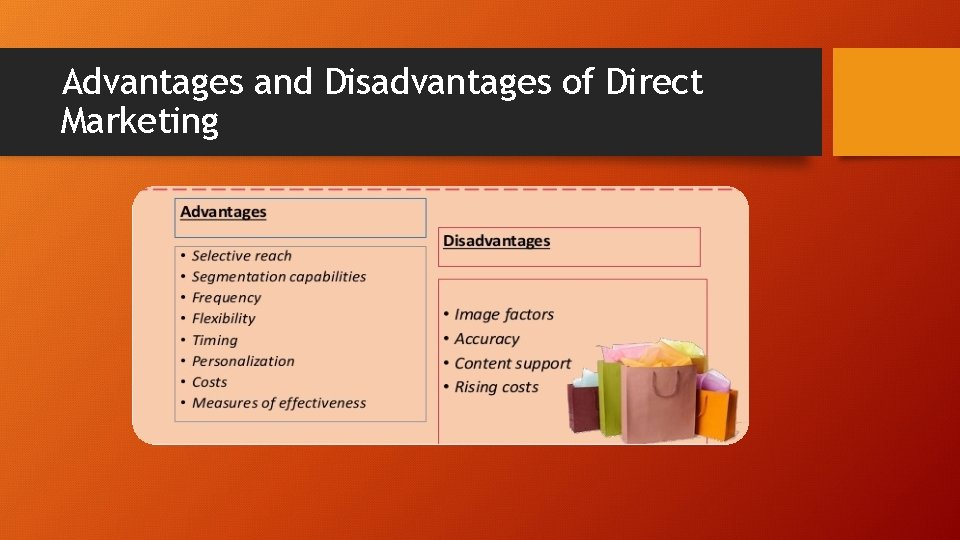 Advantages and Disadvantages of Direct Marketing