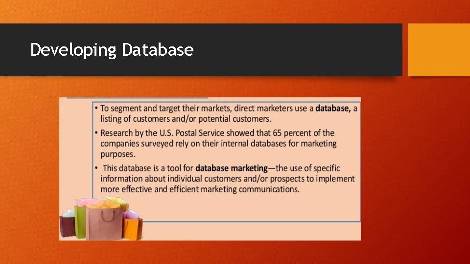 Developing Database