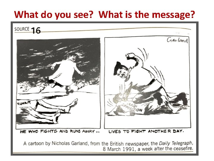 What do you see? What is the message?
