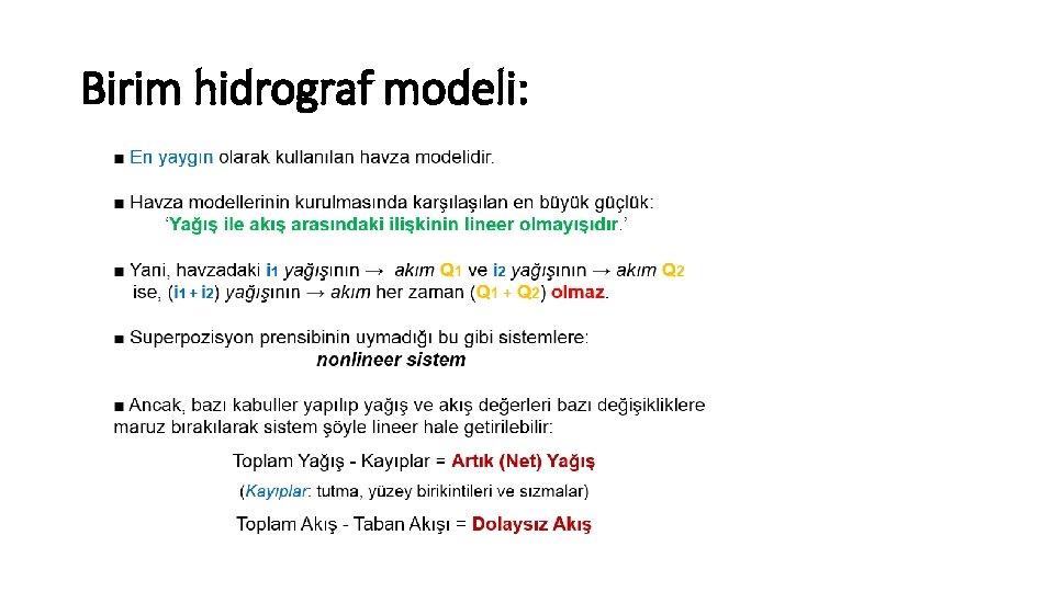 Birim hidrograf modeli: