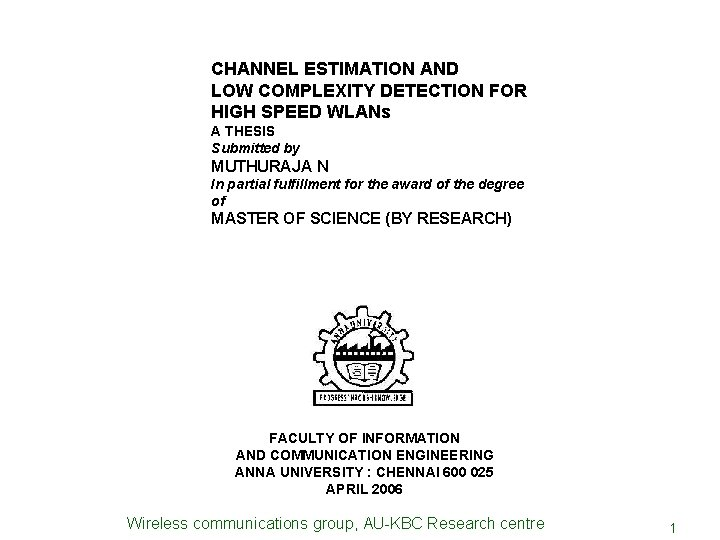 Thesis on channel estimation write top dissertation chapter