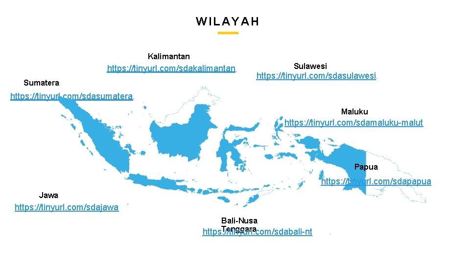 CREATIVE AGENCY PRESENTATION WILAYAH Kalimantan https: //tinyurl. com/sdakalimantan. Sumatera Sulawesi https: //tinyurl. com/sdasulawesi. https: