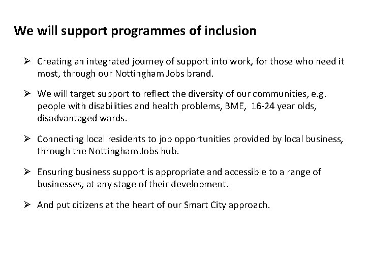 Nottingham City Growth Plan 2 0 A Renewed