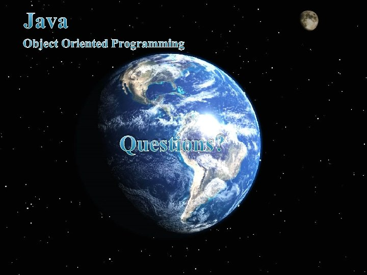 Java Object Oriented Programming Questions?
