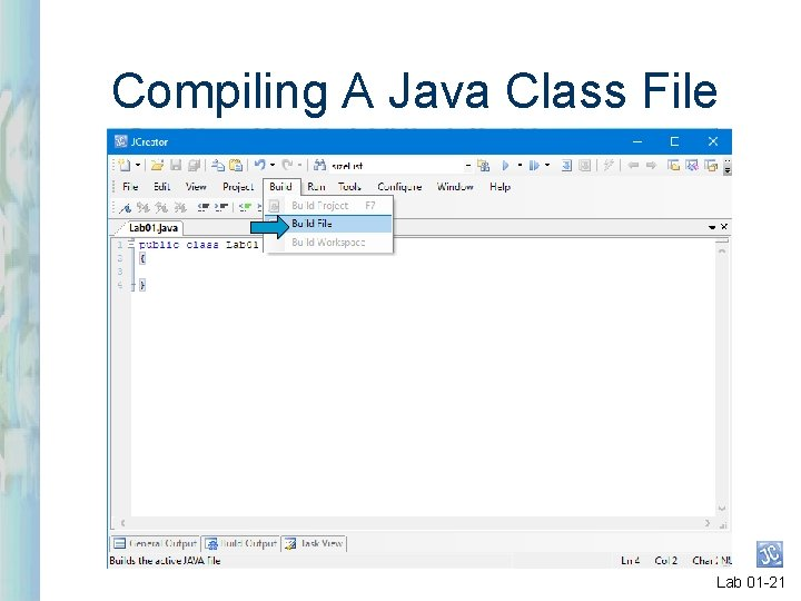 Compiling A Java Class File Lab 01 -21