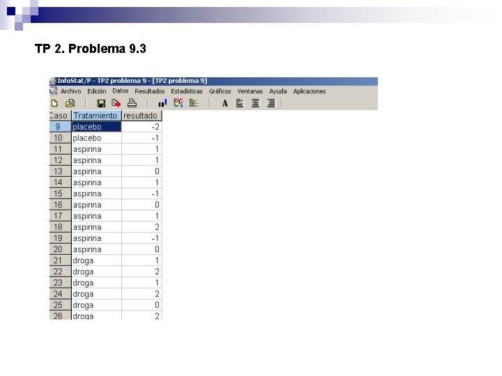 TP 2. Problema 9. 3