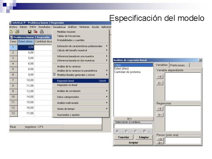 Especificación del modelo