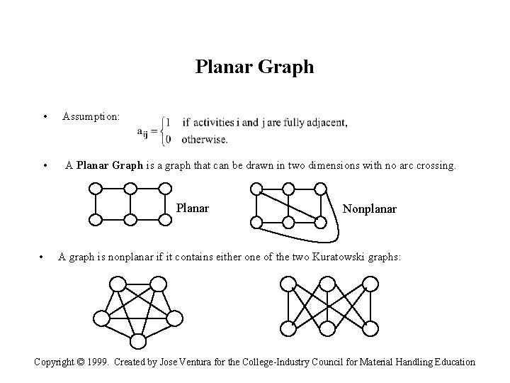 Planar Graph • Assumption: • A Planar Graph is a graph that can be