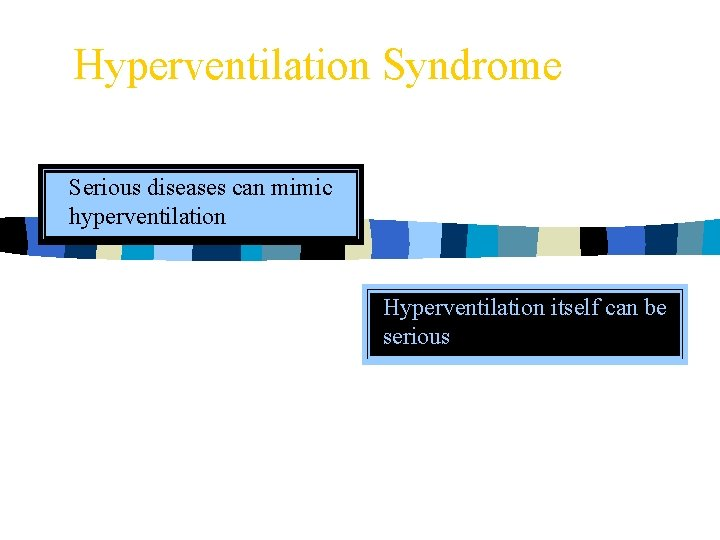 Hyperventilation Syndrome Serious diseases can mimic hyperventilation Hyperventilation itself can be serious