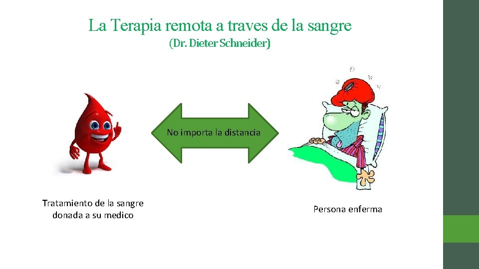 La Terapia remota a traves de la sangre (Dr. Dieter Schneider) No importa la