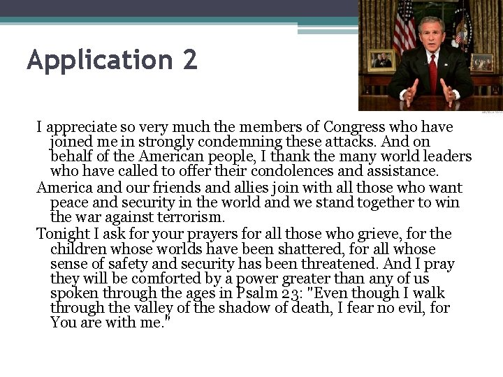 Application 2 I appreciate so very much the members of Congress who have joined