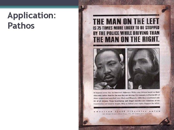 Application: Pathos