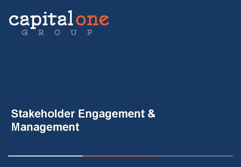 Stakeholder Engagement & Management