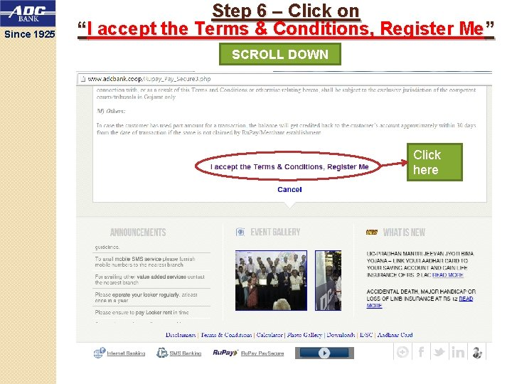"""Since 1925 Step 6 – Click on """"I accept the Terms & Conditions, Register"""