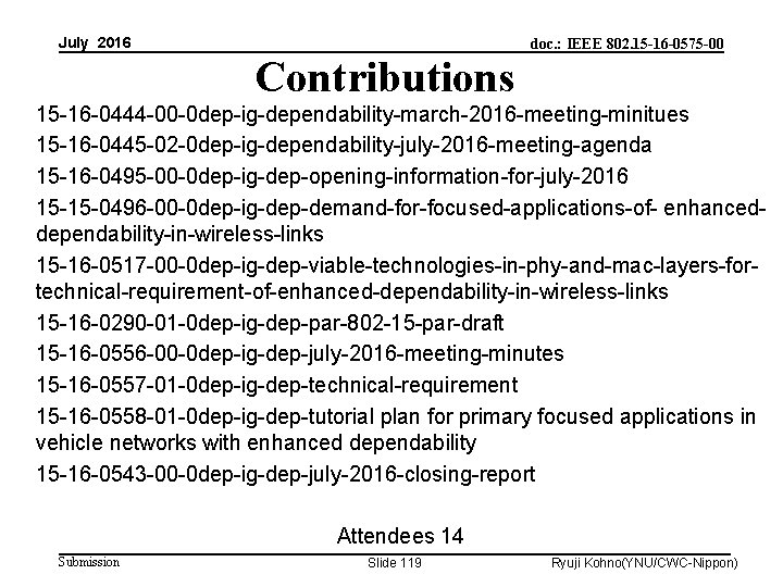 July 2016 doc. : IEEE 802. 15 -16 -0575 -00 Contributions 15 -16 -0444
