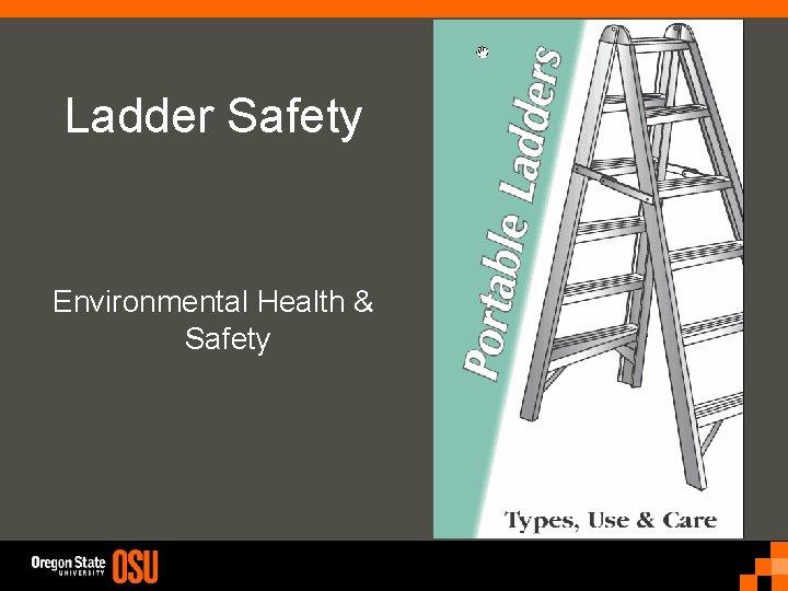 Ladder Safety Environmental Health & Safety