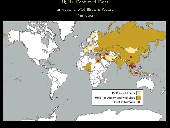 H 5 N 1: Confirmed Cases in Humans, Wild Birds, & Poultry (April 4,