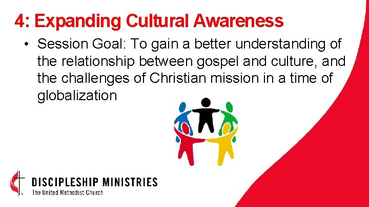 4: Expanding Cultural Awareness • Session Goal: To gain a better understanding of the