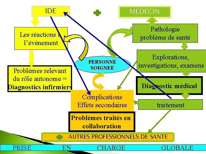 IDE MEDECIN Pathologie problème de santé Les réactions à l'évènement Problèmes relevant du rôle
