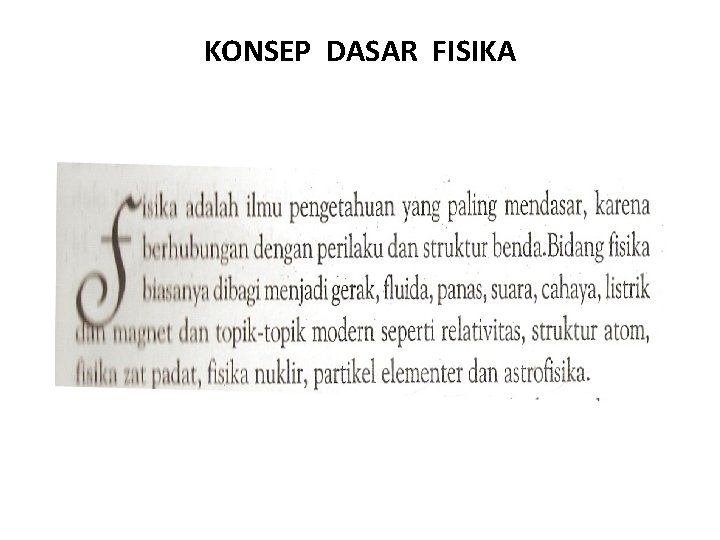 KONSEP DASAR FISIKA