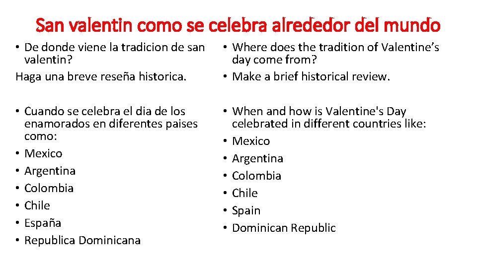 San valentin como se celebra alrededor del mundo • De donde viene la tradicion