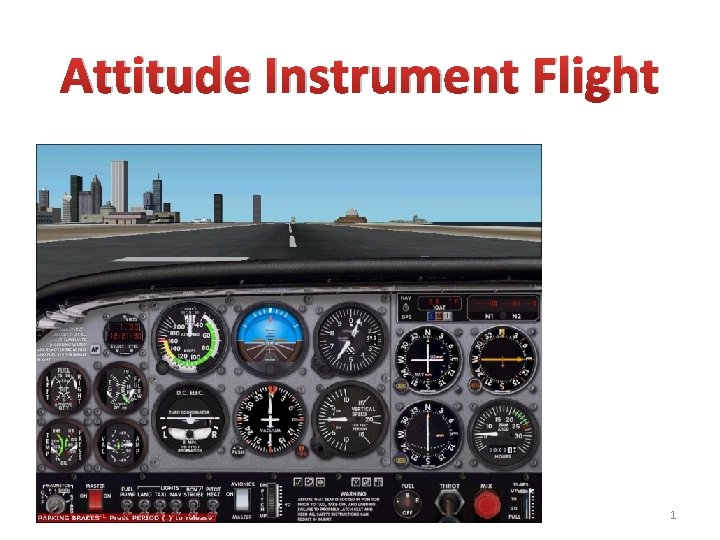 Attitude Instrument Flight 1